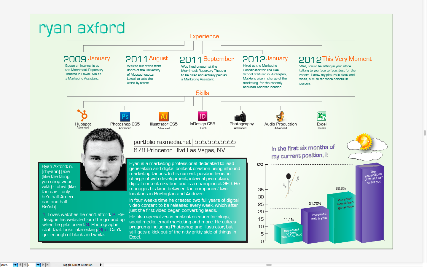 Tutorial Creating A Killer Infographic Styled Resume R Ax Media
